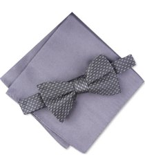 alfani men's roy geo pre-tied bow tie, created for macy's