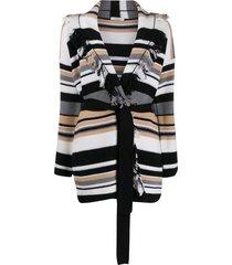 dorothee schumacher striped wrap cardi-coat - neutrals