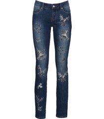 jeans skinny ricamato (blu) - rainbow