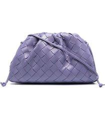 bottega veneta the mini pouch intrecciato bag - purple