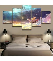 one piece animation poster  5 piece canvas art wall art picture home decor