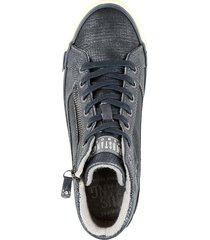 höga sneakers mustang marinblå