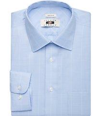 joseph abboud light blue plaid dress shirt