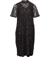jrjuli ls below knee dress - s knälång klänning svart junarose