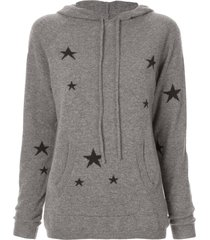 chinti and parker star knit hoodie - grey
