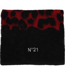 n21 leopard motif scarf