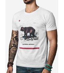camiseta hermoso compadre california masculina