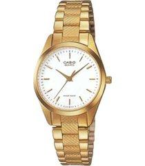 ltp-1274g-7a reloj casio dorado dama, elegante, 100% original garantizados