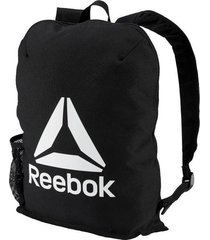 mochila negra reebok act core backpack