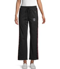 the kooples women's lace-insert mesh pants - black - size 3 (l)