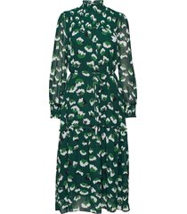 aline long dress jurk knielengte groen twist & tango