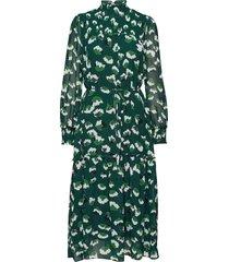 aline long dress jurk knielengte groen twist & tango