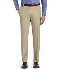 jos. a. bank men's traveler performance tailored fit flat front pants clearance, tan, 34x29