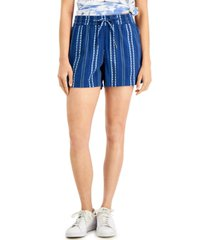 style & co striped track shorts, created for macy's