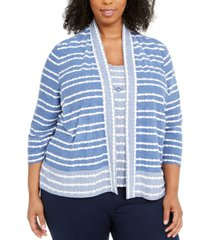 alfred dunner plus size pearls of wisdom layered-look necklace top