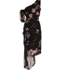 preen by thornton bregazzi ada floral print one shoulder silk dress -