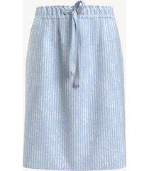 tommy hilfiger women's essential seersucker skirt 9083 seersucker floral stripe+hydrangea blue/multi - xxl