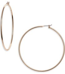 women's halogen classic metal hoop earrings
