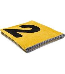 dsquared2 toalha de praia com estampa de logo - amarelo