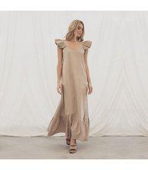 vestido miranda caqui