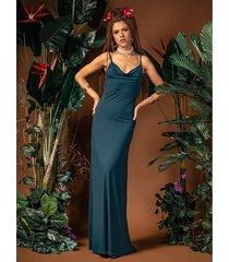 ariel maxi - suknia z dekoltem wodą