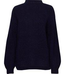blank sweater stickad tröja blå hope