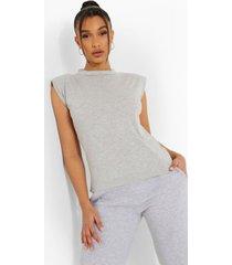 mouwloos t-shirt, grey