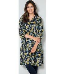 jurk janet & joyce marine::goudkleur::multicolor