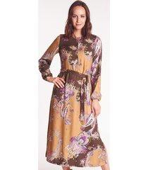 sukienka midi we wzory lena - arabeska