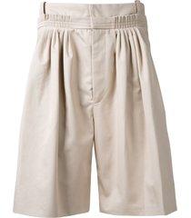 jw anderson pleated bermuda shorts - neutrals