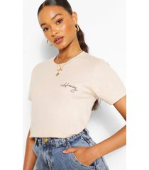 honey pocket print t-shirt, stone