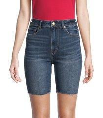 true religion women's zip-fly denim shorts - blue - size 27 (4)