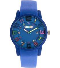 crayo unisex festival blue silicone strap watch 41mm