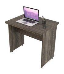 escrivaninha mesa de escritório trevalla 0,80m tampo 30mm carvalho dark