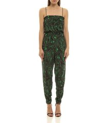 women's tropical leaf jumpsuit