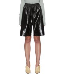 patent leather shorts