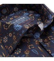 ledȗb heren overhemd navy bloemen print oxford widespread ml7 modern fit