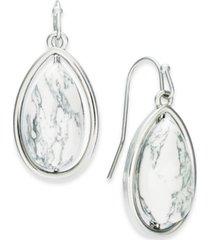 alfani silver-tone stone teardrop drop earrings, created for macy's