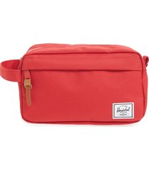 herschel supply co. chapter toiletry case, size one size - red travel
