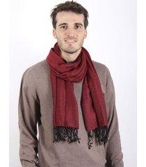 bufanda bordó spiga 31 tramado