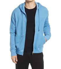 men's atm anthony thomas melillo men's zip-up hoodie jacket, size x-large - blue