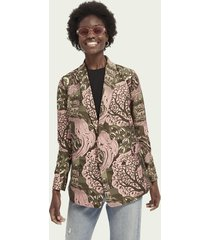 scotch & soda double-breasted blazer met dessin