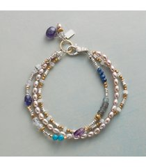 violets and blues bracelet