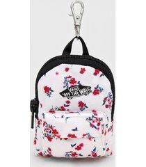 chaveiro backpack keychain vans branco/rosa