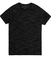 camiseta masculina jacquard preto