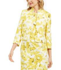 kasper monet floral-print jacket