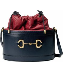 gucci bolsa bucket gucci 1955 horsebit - azul