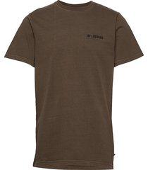 casual tee t-shirts short-sleeved brun han kjøbenhavn