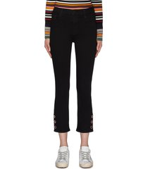 'ruby' button cuff cropped skinny cigarette jeans