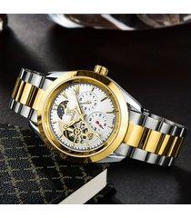 reloj, cinturón de acero para uñas real para-blanco